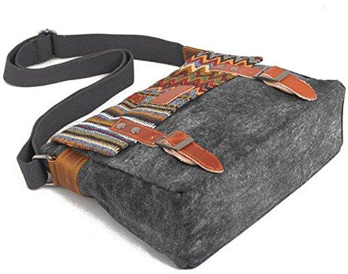 Shayin 12 Pollici Tablet Borsa A Tracolla Per Il Tempo Libero Borsa A Tracolla Di Tela Per Il Tempo Libero (grigio Scuro) Grigio Scuro