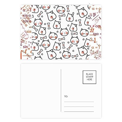 Postkarten-Set für Katzen, Knochenschutz, Tierliebhaber, 20 Stück