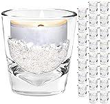Unbekannt Mini Windlichter [ 24 Stück ] kleine Teelichtgläser mit Dekosand im Set Windlicht Teelichtglas Teelichthalter
