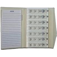 Wöchentliche Pillenschachtel mit 4 Abteilungen pro Tag | Pillendöschen mit Brieftasche und Notizblock preisvergleich bei billige-tabletten.eu