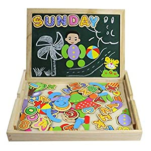 Yixin Puzzles Rompecabezas Magnéticos de Madera Juguetes Educativos para Niños Niña 3 Años de CY TOYS FACTORY