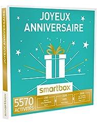 SMARTBOX - Coffret Cadeau - JOYEUX ANNIVERSAIRE - 5570 activités : séance bien-être, gastronomie ou aventure