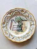 Piatto di ceramica siciliana dipinto a mano. Piatto da piattaia. Le ceramiche di Ketty Messina.