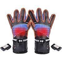 1 par de guantes térmicos eléctricos impermeables, 2600/3000/4000 mAh batería eléctrica recargable guantes para invierno ciclismo esquí ciclismo al aire libre correr montar a caballo, 2600 mAh