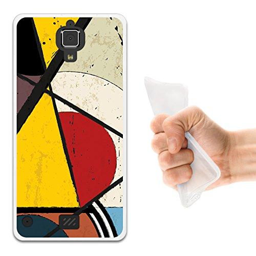 WoowCase Hisense C20 King Kong II 4G Hülle, Handyhülle Silikon für [ Hisense C20 King Kong II 4G ] Geometrische Formeln Dreieck 2 Handytasche Handy Cover Case Schutzhülle Flexible TPU - Transparent
