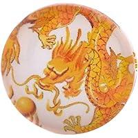 Morella vetro Click-button bottone automatico fortuna drago giallo Unisex