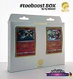 FENNEXIS Holo 17/131 & PANFERNO Holo 59/131 - #tooboost X Sonne & Mond 6 Grauen der Lightfinsternis- Box mit 10 Deutschen Pokémon-Karten