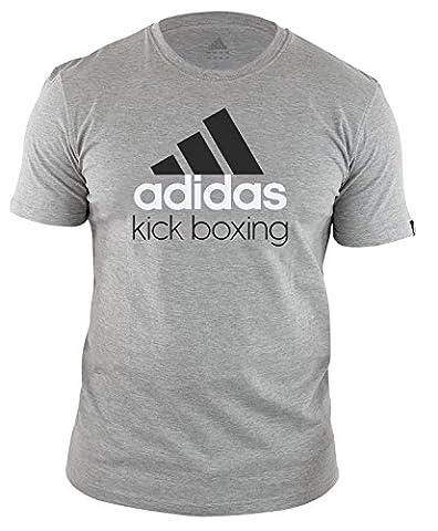 Adidas Originals Men's T Shirt Grey Classic Kick Boxing (M)