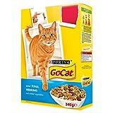 Go-Cat con atún, arenque y verduras añadido 340 g (Pack de 6 x 340 g)