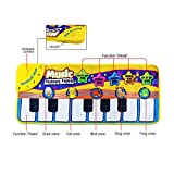 Zmoon Musical Toys, Piano Mat Musical Carpet Baby Activity Gym Play Mats , Baby Early Education Music Singing Piano Keyboard Blanket Touch Play Safety for Kids Gift (Yellow)