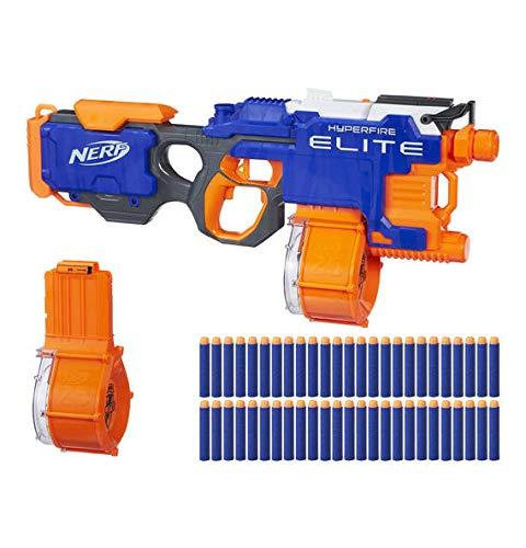 Nerf, Hyperfire Bundle N-Strike Elite Blaster mit zusätzlichem Trommelmagazin (Value Pack)