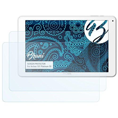 Bruni Schutzfolie für Archos 101 Platinum 3G Folie, glasklare Displayschutzfolie (2X)