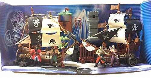 kidoloop Massive Spielzeug Piraten Schiff Set von 2Boote in Action Cannon & Zubehör