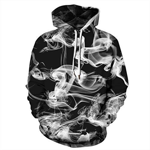 Unisex 3D Druck Hoodie Kapuzenpullover Bunt Langarm Pullover Sweatshirt ◆Elecenty◆ Hoodies Top Blouse Jacke Mantel Outwear Männer Kapuzenpullis Kapuzenpulli -