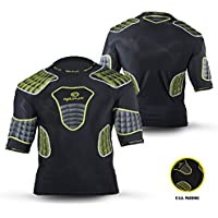 OPTIMUM Atomic - Protecciones, Color Negro (Black/Yellow/Grey), Talla XL