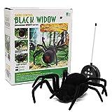 MECO RC Ferngesteuerte Spinne Fernbedienung Spider Spielzeug Geschenk Halloween Riesenspinne Latrodectus Black Widow 30*30*8.5cm