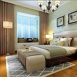 Simple y moderna sala de estar y alfombras y dormitorio matrimonio habitación pared cama manta de cama/Gruesas rayas alfombras de acrílico a mano-E 120x170cm(47x67inch)