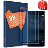 SLEO Protection écran Nokia 3 Verre Trempé, Film Vitre Tactile Ultra Transparent Résistant aux Rayure Easy-Install pour Nokia 3-2 Pack