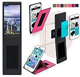 reboon Hülle für Sharp B10 Tasche Cover Case Bumper   Pink   Testsieger