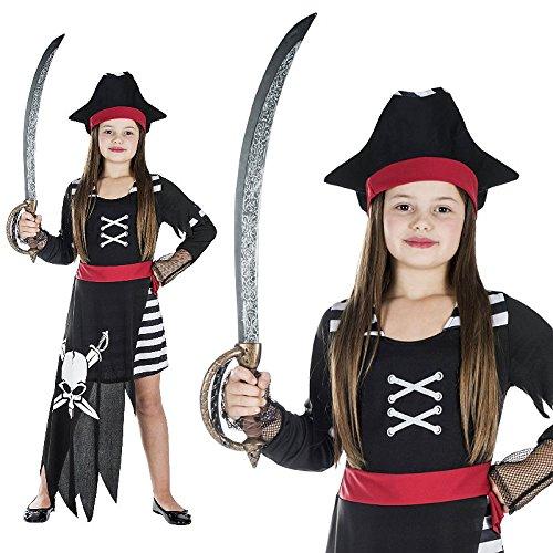 Piratin Seemannsbraut Seeräuberin Kinderkostüm Piratenkostüm