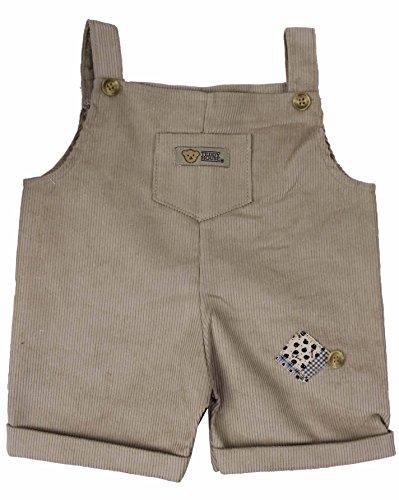 Outfit Bekleidung Teddy Cord Hose beige mit Träger passend für 35 cm (=14 Zoll) aus 100% Baumwolle -