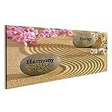 Bild Bilder auf Leinwand Zen-Garten mit Harmonie und Energie Wandbild, Poster, Leinwandbild NJR