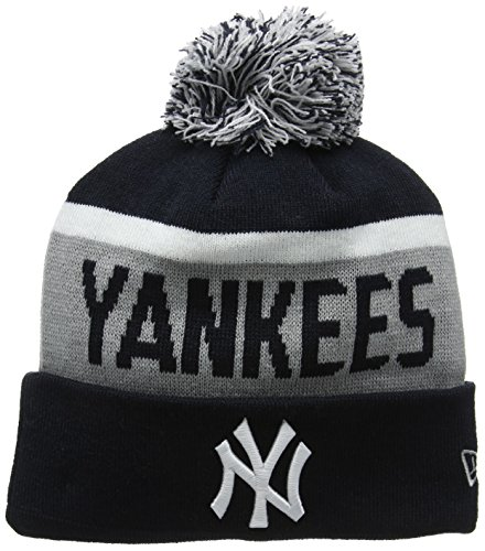 New Era Team Jake Ny Yankees Knit, Bonnet Homme, Bleu (Navy), Taille Unique (Taille Fabricant: Taille Unique)