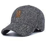 MRACSIY Unisex Winterkappen Baseball Kappe Grau 56-60cm