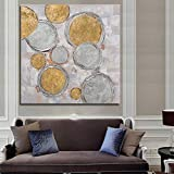WHUI Peinture à l'huile Peinture à l'huile dessiné à la main de décoration de maison abstraite sur la toile sans cadre