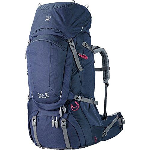 Jack Wolfskin Damen Denali 60 Women Trekking Backpack, Ocean Wave, 83 x 38 x 36 cm