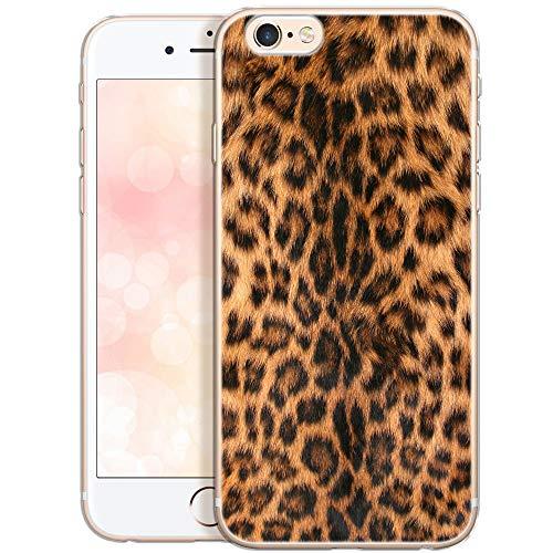 OOH!COLOR Collection 2019 Handyhülle kompatibel mit iPhone 6 Plus iPhone 6s Plus Hülle Silikon Motiv dünn durchsichtig Slim Case Leopard (EINWEG) Leopard Cover