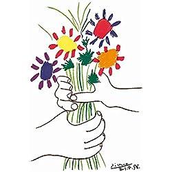 Kunstdruck/Poster: Pablo Picasso Bouquet - Hochwertiger Druck, Bild, Kunstposter, 60x80 cm
