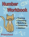 Number Workbook Preschool: Big Math Activity Book for Toddler Ages 2-4 Year Old