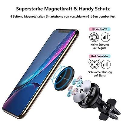 VANMASS-Handyhalter-frs-Auto-Magnet-Kfz-Handy-Halterung-Lftung-Superstark-Magnetkraft-mit-6-Magnete-und-3-Metallplatte-Magnetische-Auto-Handyhalterung-360-Drehbar-fr-iPhone-iPad-Samsung-Huawei-usw