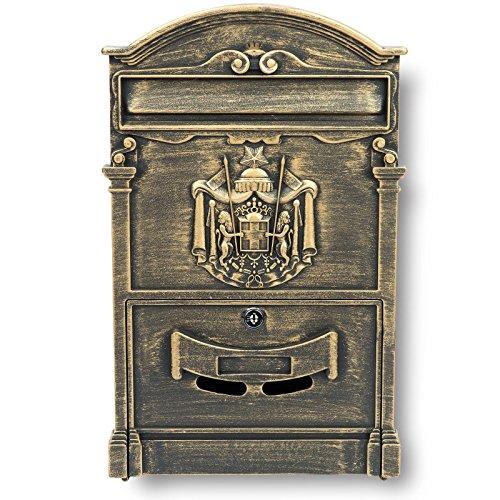 Briefkasten Antik Wandbriefkasten Gusseisen Postkasten Gründerzeit Letterbox neu
