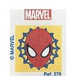 Haberdashery Online Kit Mezzo Punto per i Bambini, 18x15 cm. Collezione Spiderman - Modello 570