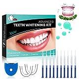 Gel Sbiancante per Denti Teeth Whitening Kit Sbiancamento Denti Denti Bianchi Professionale Pulizia Denti-10x3ML Gel Sbiancante,1xLuce LED,2xVassoio Dentale,1xCarta Colore,6 Sbiancamento Denti Wipe…