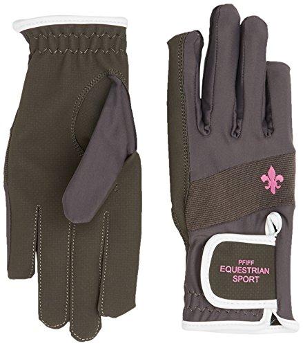 PFIFF Damen 101660 Damenreithandschuhe Handschuhe, Grau, L