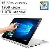 HP ENVY X360 15t-w200 15 Inch Touchscreen 2-in-1 Laptop Intel Core I5-7200U 7th Gen | 12GB RAM | 1TB HDD | Backlit Keyboard | Win 10