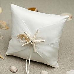 Cojín para alianzas de boda, diseño marinero