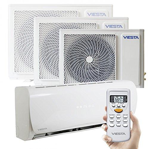 Viesta Klimaanlagen energiesparende Klima Splitgeräte - Timer- und Entfeuchter-Funktion - angenehm leise - bis 24000 BTU für Räume bis 85qm - weiß, Modell:AC09 (9000 BTU)