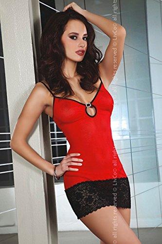 Livia Corsetti L/XL, colore: rosso/nero, Costanza Nightwear
