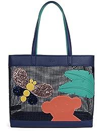 TOUS Belmart Patch, Shopper para Mujer, Azul (Marino), 14x30x14.5 cm (W x H x L)