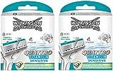 Wilkinson Sword Quattro Titanium Sensitive Razor Blades - Pack of 16 Blades