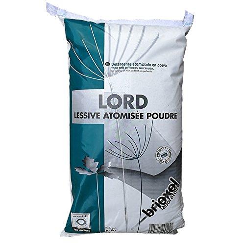 Lessive poudre atomisée 3€/kg LORD Sac de 20 Kg Produit professionnel accessible aux particuliers BRIOXOL Laborato