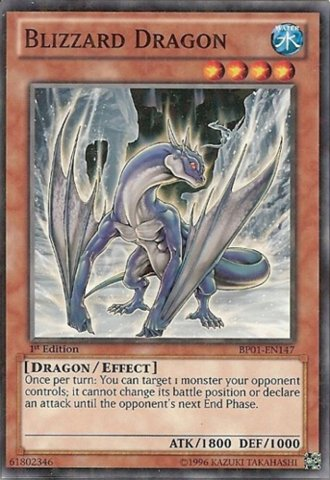 Yu-Gi-Oh! - Blizzard Dragon (BP01-EN147) - Battle Pack: Epic Dawn - 1st Edition - Starfoil Rare by Yu-Gi-Oh! - Yugioh Blizzard
