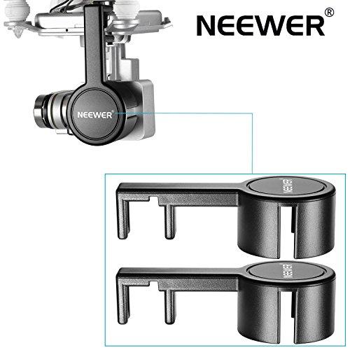 Neewer® für DJI Phantom 3Standard, Profi, und Advanced, 2er Pack Schutz Kamera Objektiv Kappen Bildschirmschutz bedeckt, aus Premium ABS-Kunststoff-Schwarz - 2