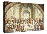 Quadri moderni cm 100x70 XXL Stampa su tela canvas in cotone Raffaello La scuola di Atene Arredo Soggiorno arte casa