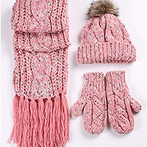 zyyaxky Wolle Hut Hut Im Freien Geschenk Hut Schal Handschuhe Dreiteilige Weibliche, 1 Knit Slouch Hut