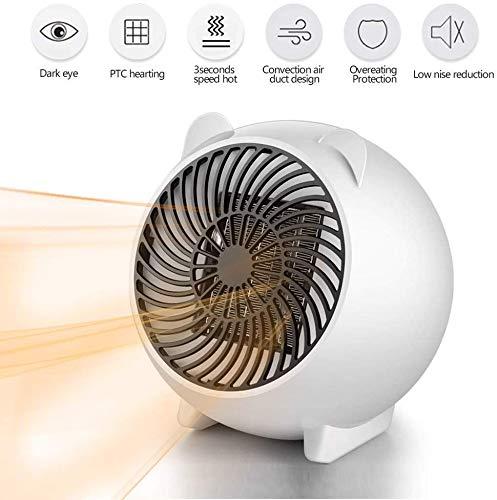 Dee Banna Mini Heizlüfter Keramik Energiesparend Schnellheizer Tragbar mit 3s Schnellheizung,Automatische Oszillation,Temperaturreglung/Überhitzungsschutz/Umkippschutz für Büro, Camping, zu Hause